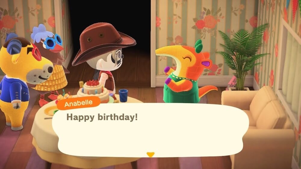 I had a party in animal crossing